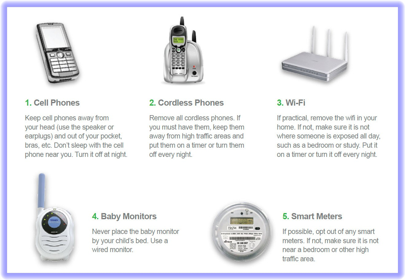 advice on how to reduce rf exposure from wi fi smart