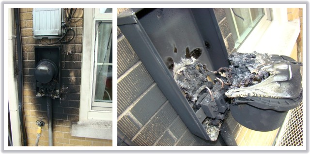 Smart Meter Fire Damage