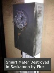 SaskPower Smart Meter Fire