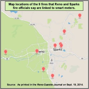 Reno and Sparks Smart Meter Fires