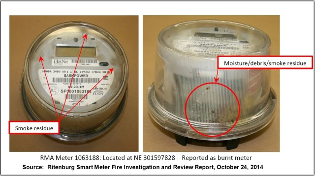 Sensus Burnt Smart Meter