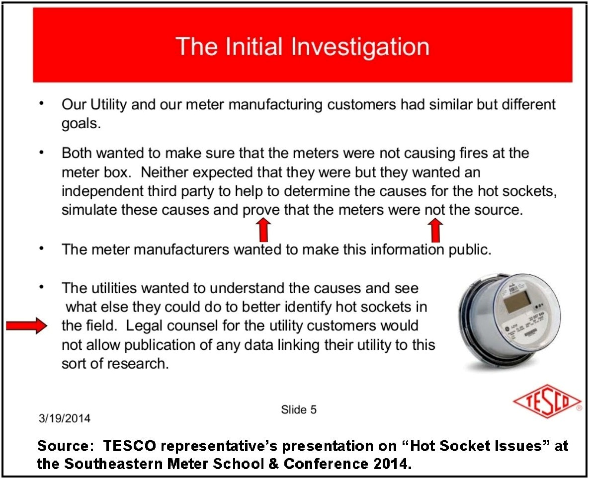 """Analogue Meter Vs Smart Meters : Analog meters withstand """"hot sockets better than smart"""