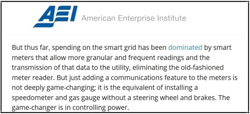 AEI Quote on Smart Meters