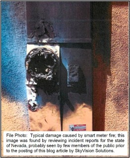 Smart Meter Fire File Photo NV