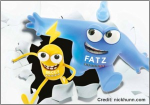 Fatz and Deccy Cartoons