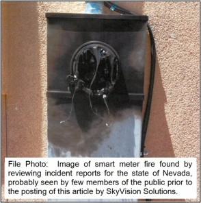 NV Smart Meter Fire Photo