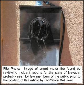 NV Smart Meter Fire Photo