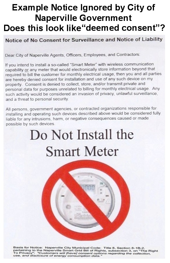 Example Notice Ignored by City of Naperville