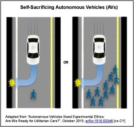 Self-Sacrificing Vehicles