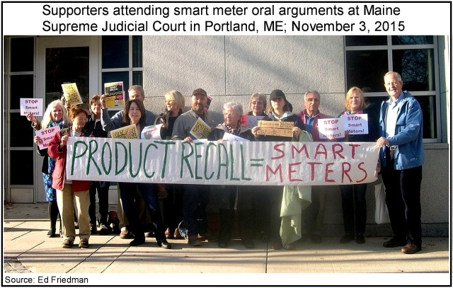 Supporters for Smart Meter Opposition at Maine Law Court