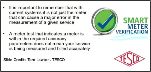TESCO Information on Meter Accuracy