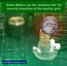 Hacker with Smart Meter Interface to Electric Grid