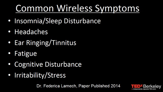 Common Wireless Exposure Symptoms at TEDx