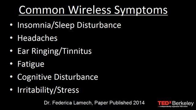 Common Wireless Exposure Symptoms at TEDx
