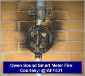 Owen Sound Smart Meter Fire March 2016