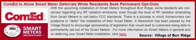 Burr Ridge Newsletter Item on SMs