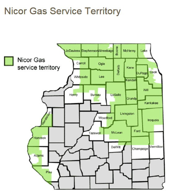 Nicor Gas Begins Deployment of Smart Meter Radio Modules in ... on global warming map, coal map, sustainability map, europe map, transportation map, training map, nuclear map, wind map, economy map,